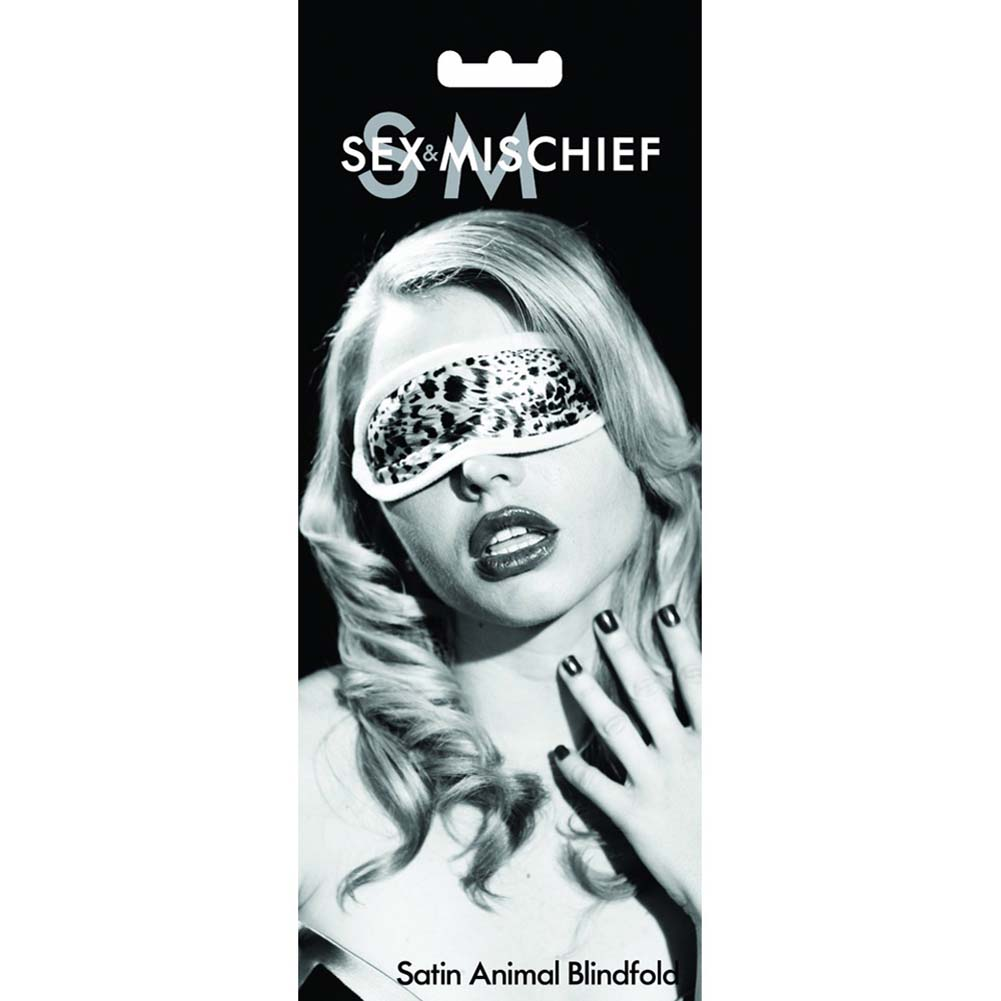 Sportsheets Sex and Mischief Satin Blindfold Eye Mask One Size Animal Print - View #2