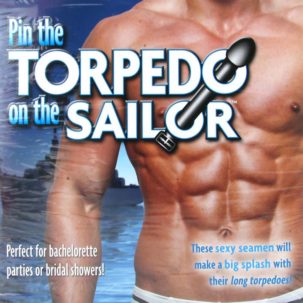 Pin the Torpedo On the Sailor Party Game - View #2