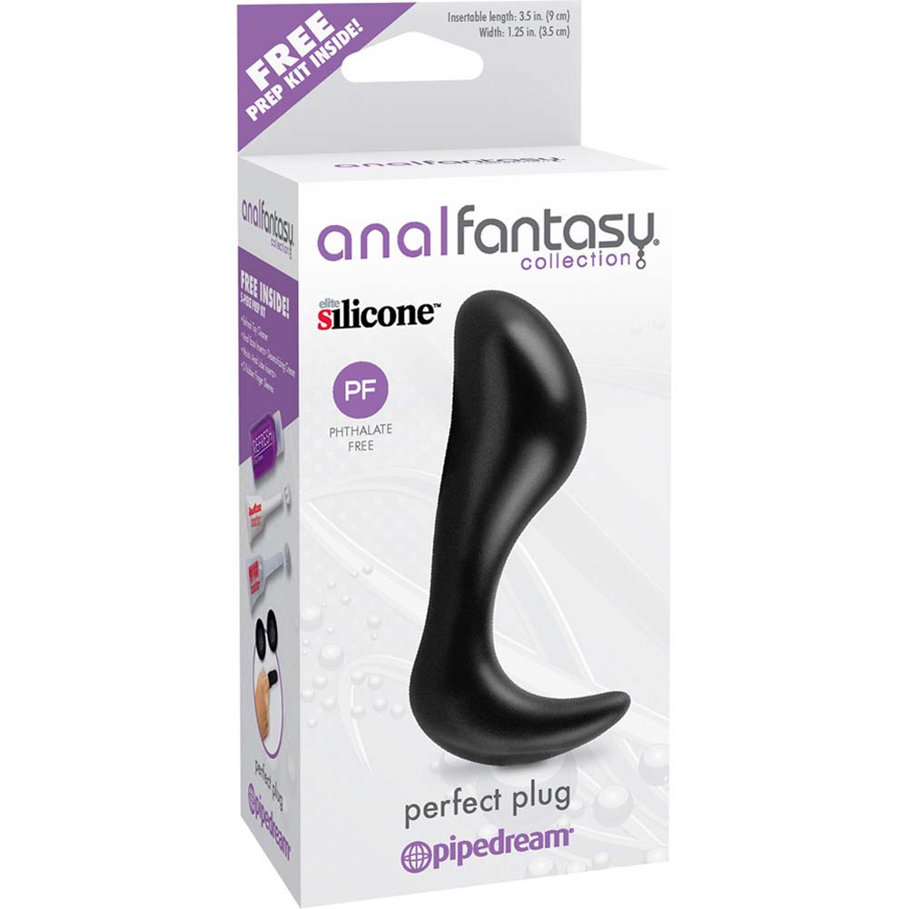"Anal Fantasy Collection Silicone Perfect Plug 4.25"" Black - View #1"