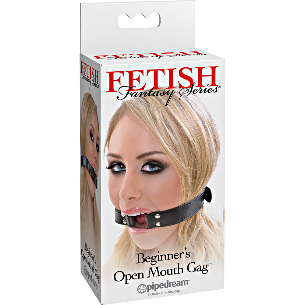 Fetish Fantasy Series Beginners Open Mouth Gag Black - View #4