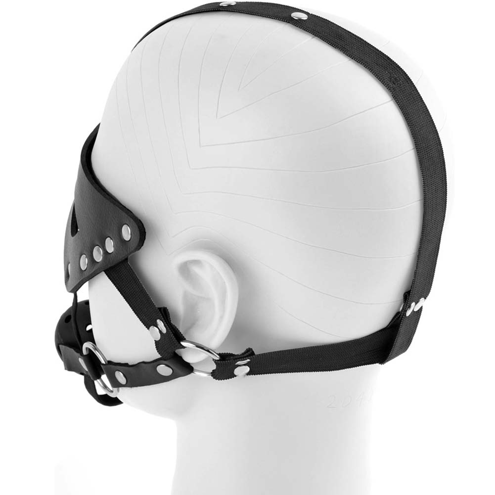 Fetish Fantasy Series Masquerade Mask and Ball Gag Black - View #3