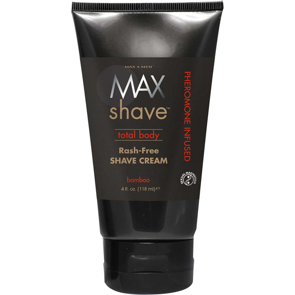 Max 4 Men Max Shave Total Body Shave Cream with Pheromones Bamboo 4 Fl. Oz. - View #1