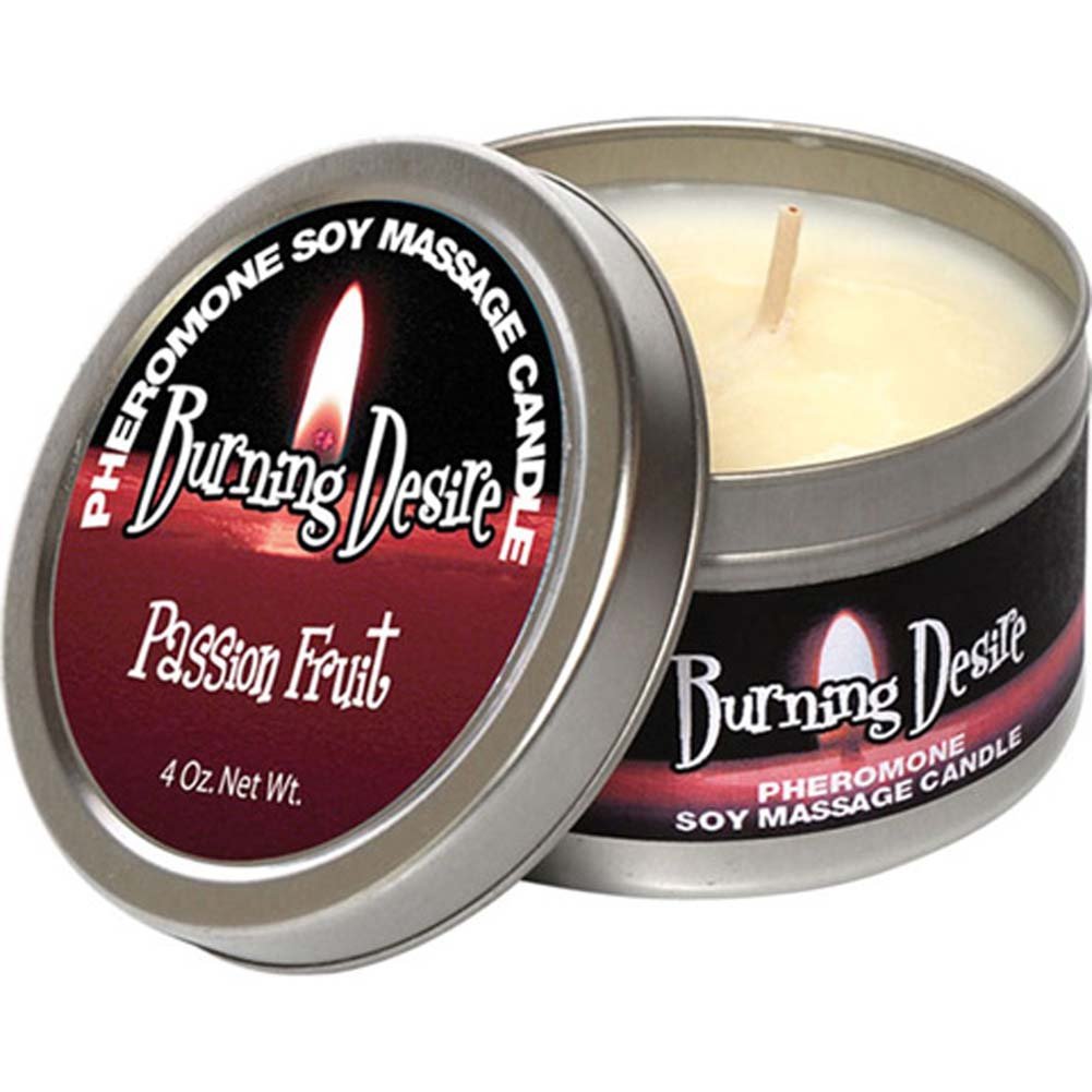 Pheromone Soy Massage Candle Burning Desire Passion Fruit 4 Oz. - View #2