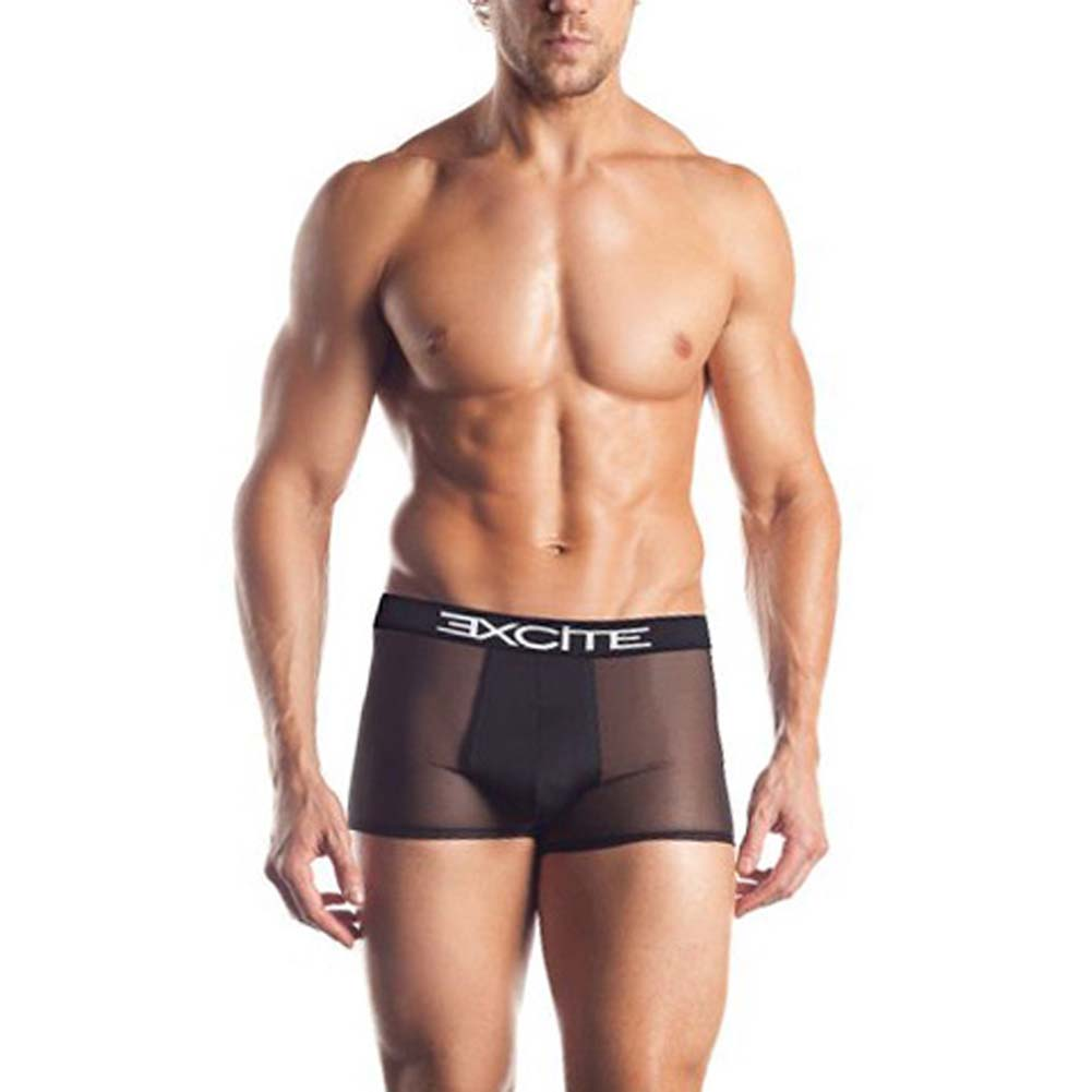 Excite Extreme Series Mesh Boxer With Logo Waistband Black - View #1