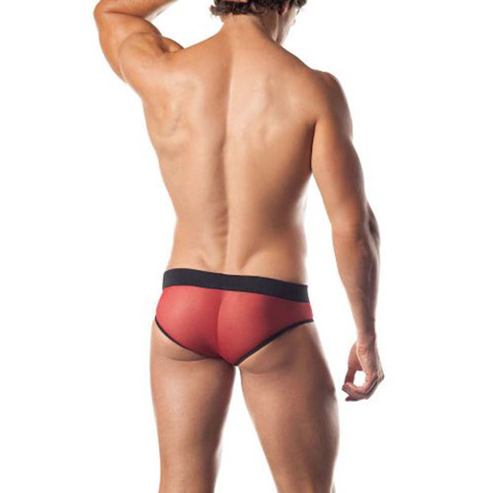 Excite Extreme Series Mesh Brief With Contrasting Colors - View #2