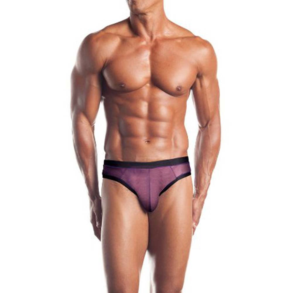 Excite Extreme Series Mesh Thong With Contrasting Colors - View #1