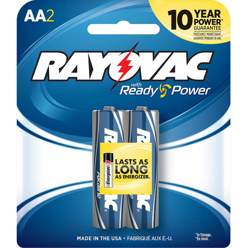 Rayovac 2 AA Alkaline Batteries with Ready Power - View #1