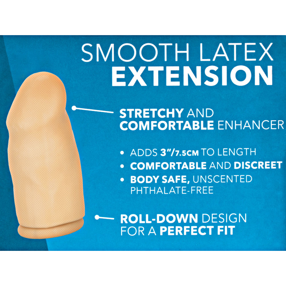 "Latex Extension 3"" Smooth Natural - View #1"