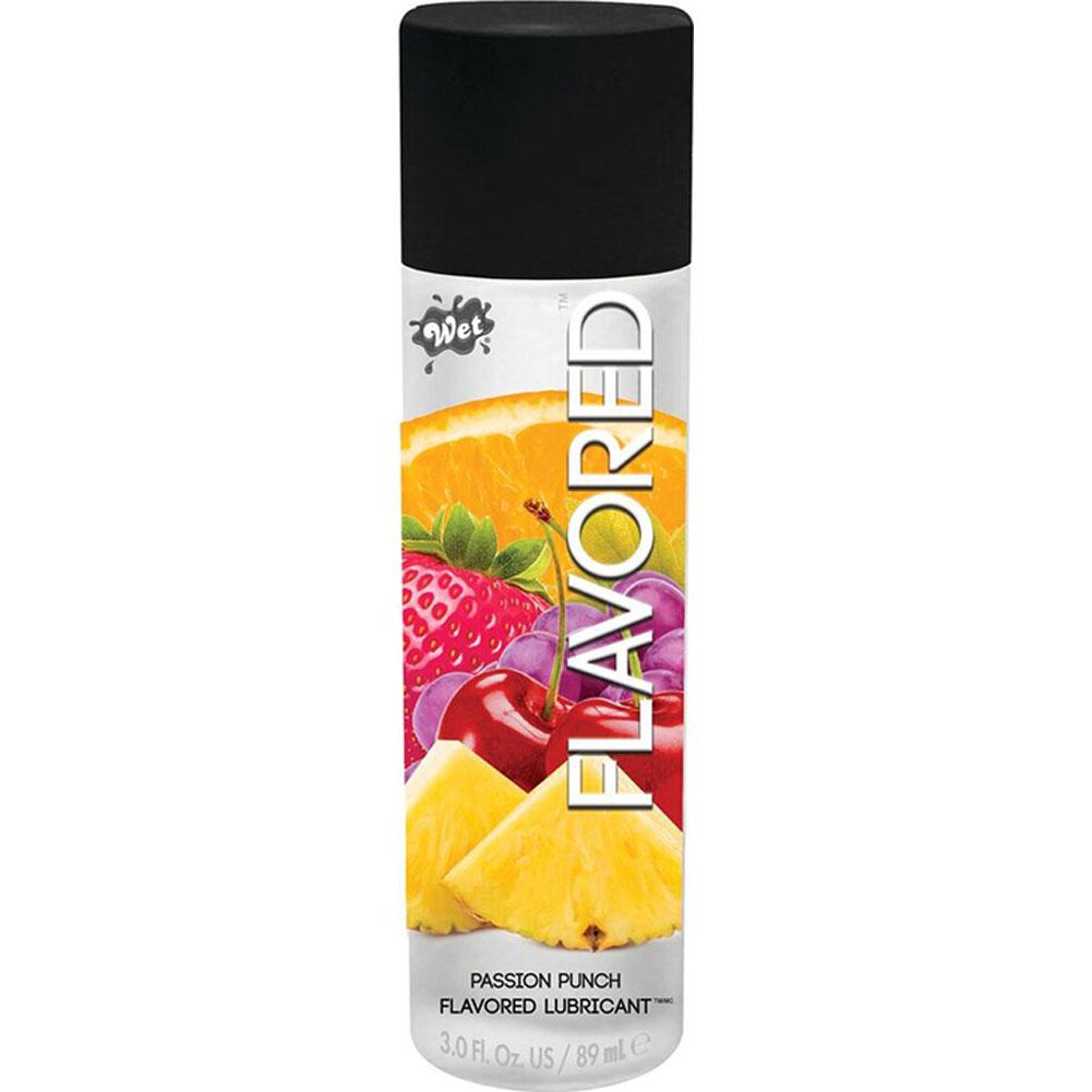 Wet Flavored Gel Lubricant 3.6 Oz Passionate Fruit Punch - View #1