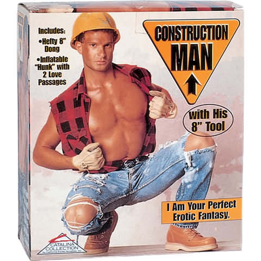 Construction Man Inflatable Doll - View #1