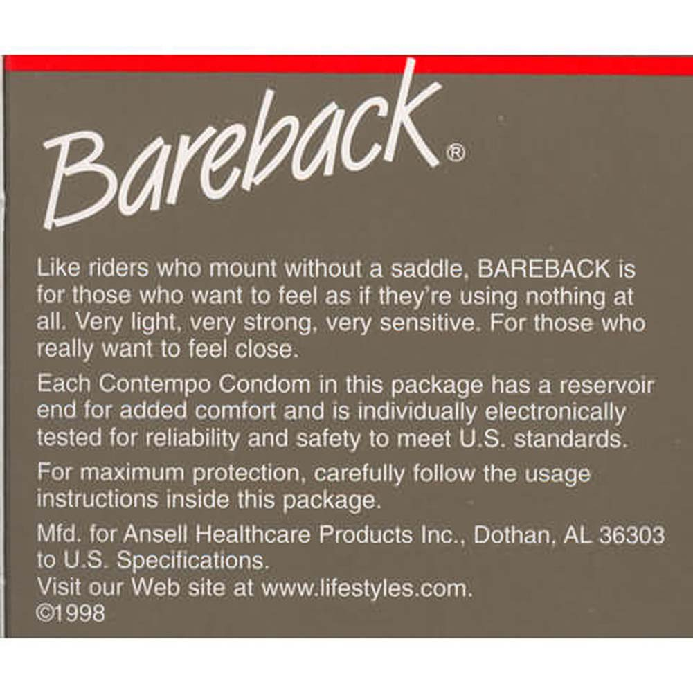 Bareback Condoms 3 Pack - View #2