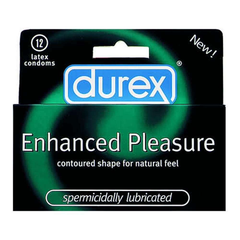 Durex Enhanced Pleasure Lubricated Condom 12 Pk - View #1
