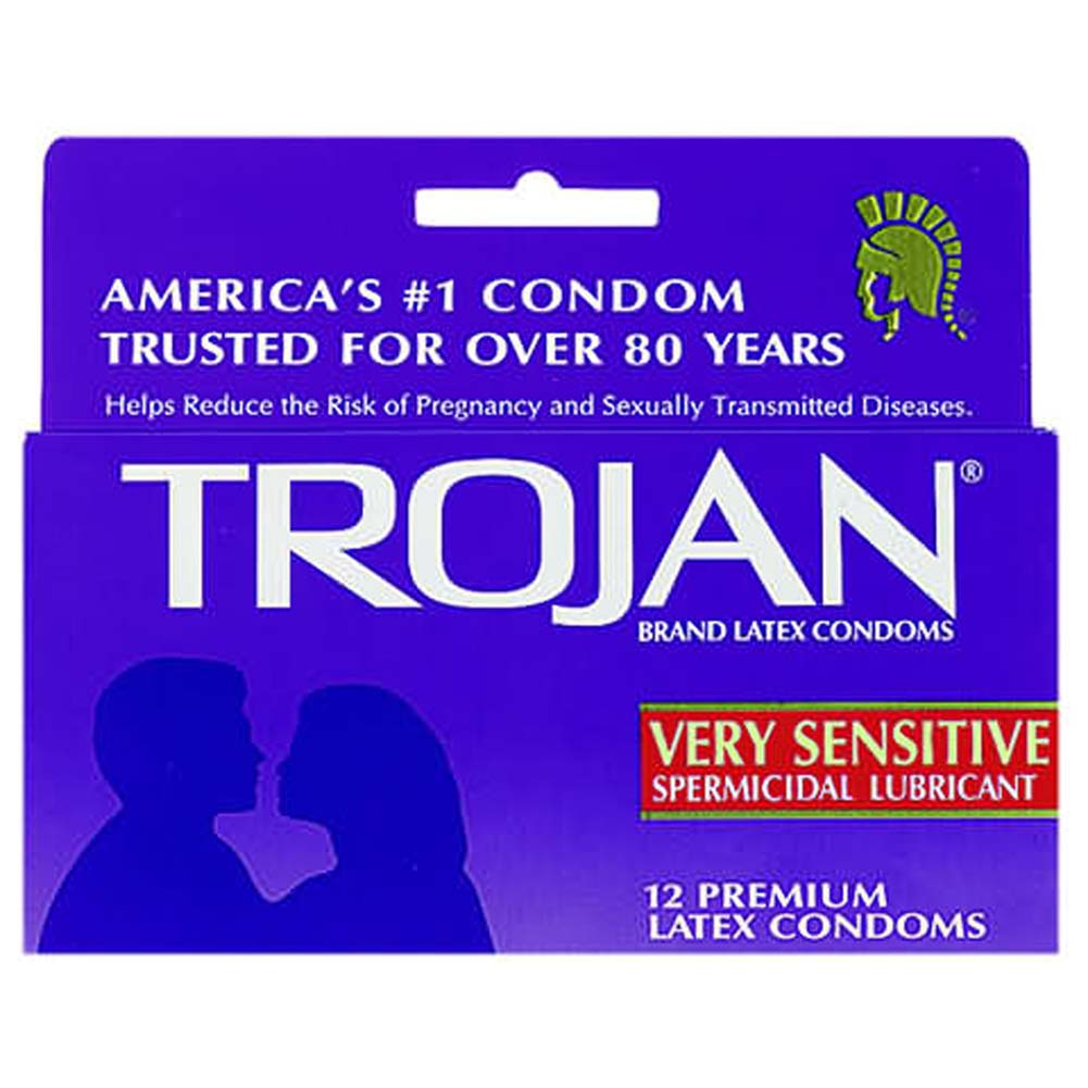 Trojan Very Sensitive Spermicidal Lubricant Condom 12 Pk - View #1