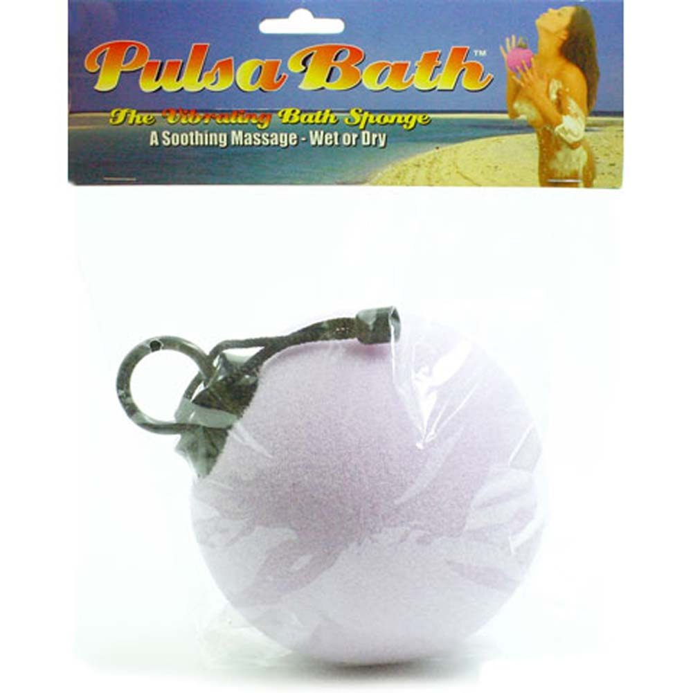 "Pulsa Bath Waterproof Vibrating Sponge Ball 5"" Lavender - View #2"