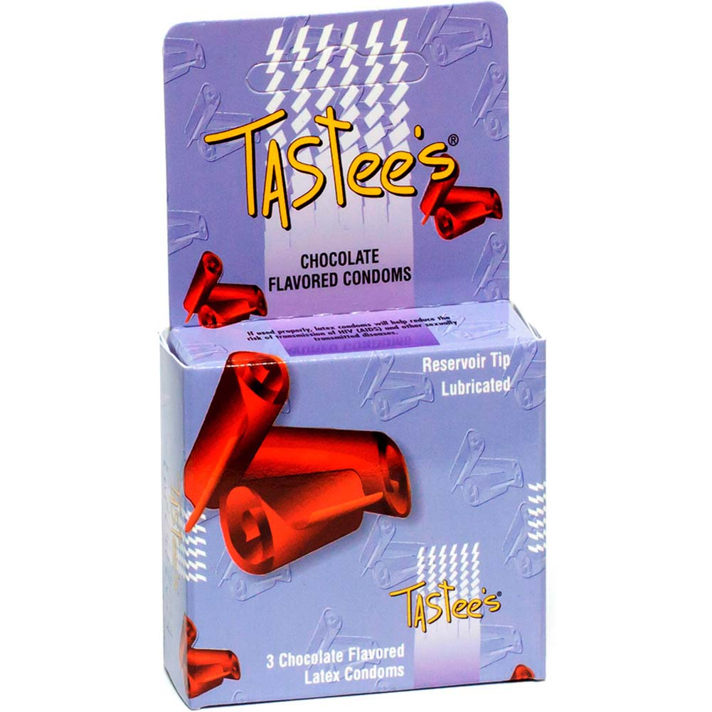 Tastee Flavored Condoms Pack of 3 Chocolate - View #1