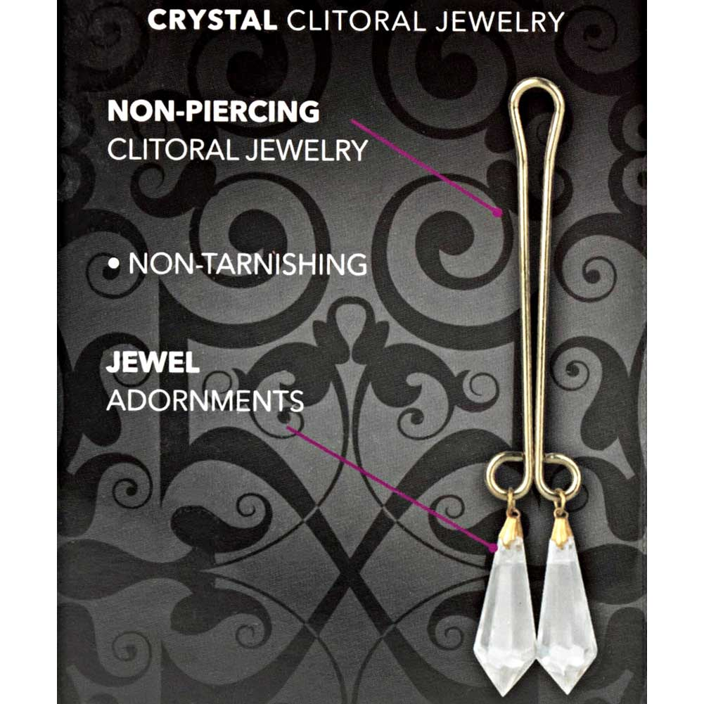 CalExotics Cleopatra Collection Clit Clip Clitoral Jewelry Clear Crystals - View #1