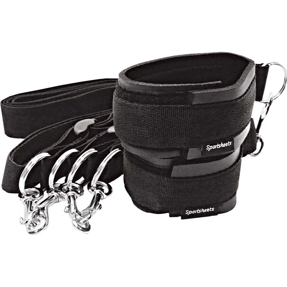Sportsheets Sports Cuffs and Tethers Kit Black - View #1