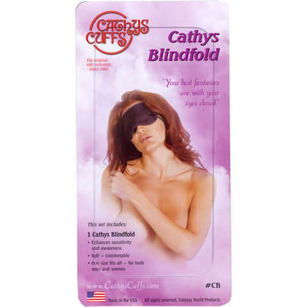 CathyS Fantasy Blindfold One Size Black - View #1