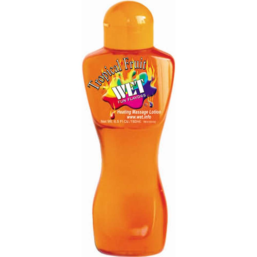 Wet Fun Flavors 4-in-1 Flavored Warming Massage Lubricant 6.5 Fl. Oz. 192 mL Tropical Fruit - View #1