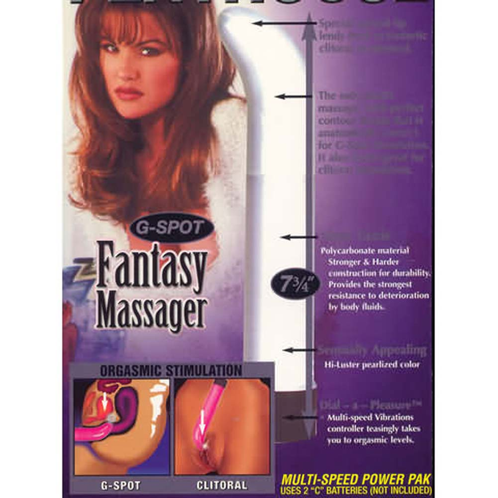 G-Spot Fantasy Massager Pearl White - View #2