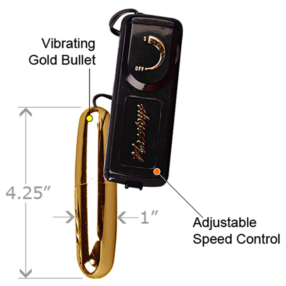 "Nasstoys Intimate Ultra Bullet Vibrator for Men and Women 4.25"" Gold - View #1"