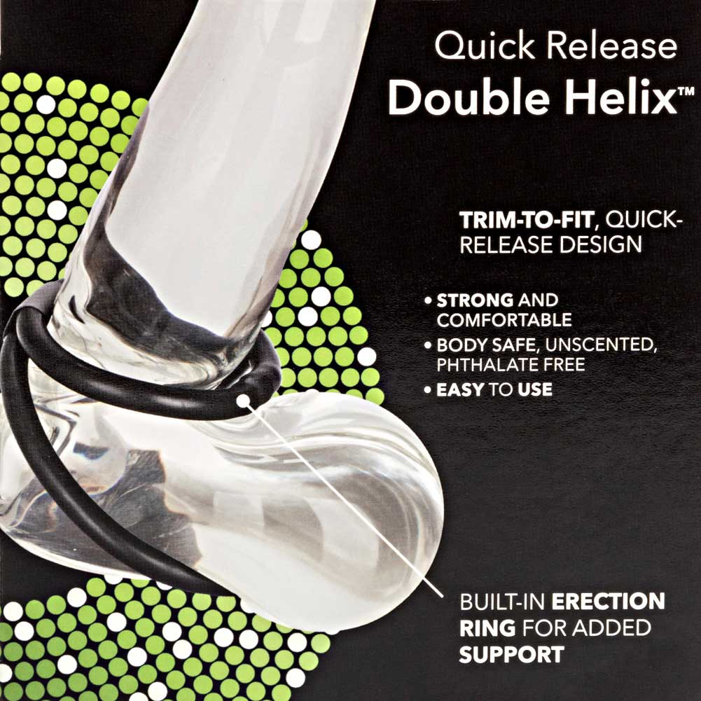 California Exotics Quick Release Double Helix Adjustable Erection Ring Black - View #1