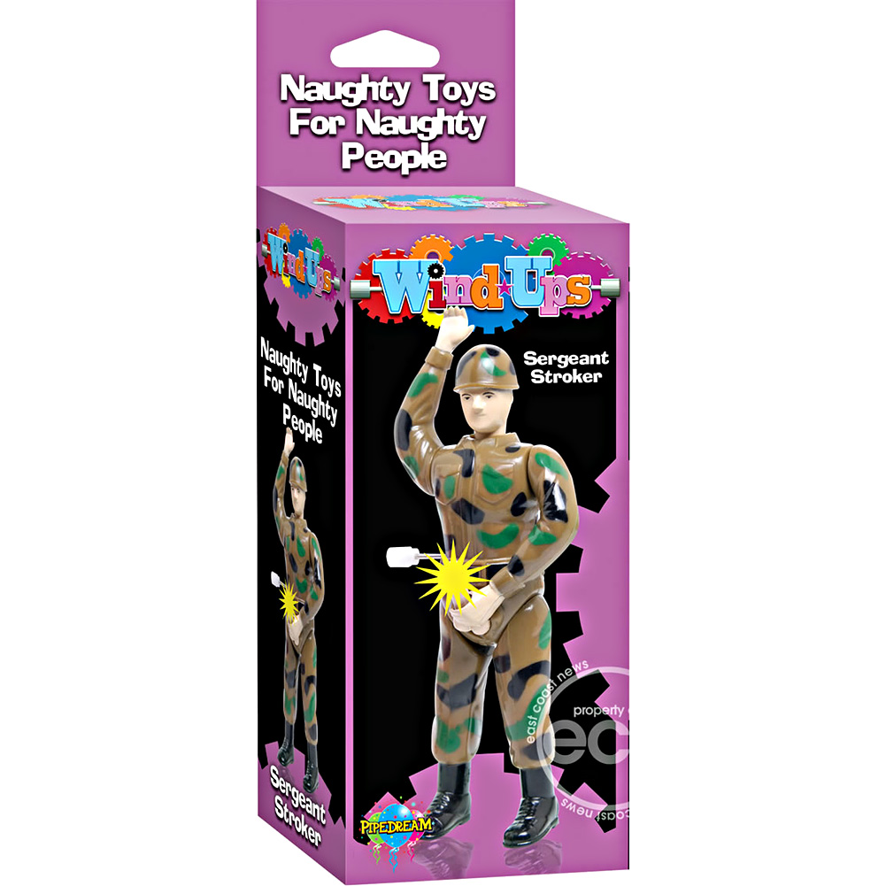 Pipedream Sergeant Stroker Jerkoff Soldier Wind Up Toy - View #1