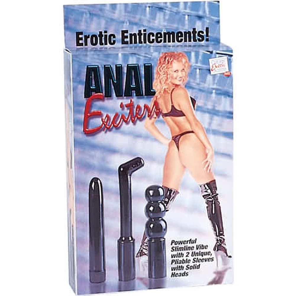 Anal Exciters Kit with Vibe and 2 Sleeves - View #1