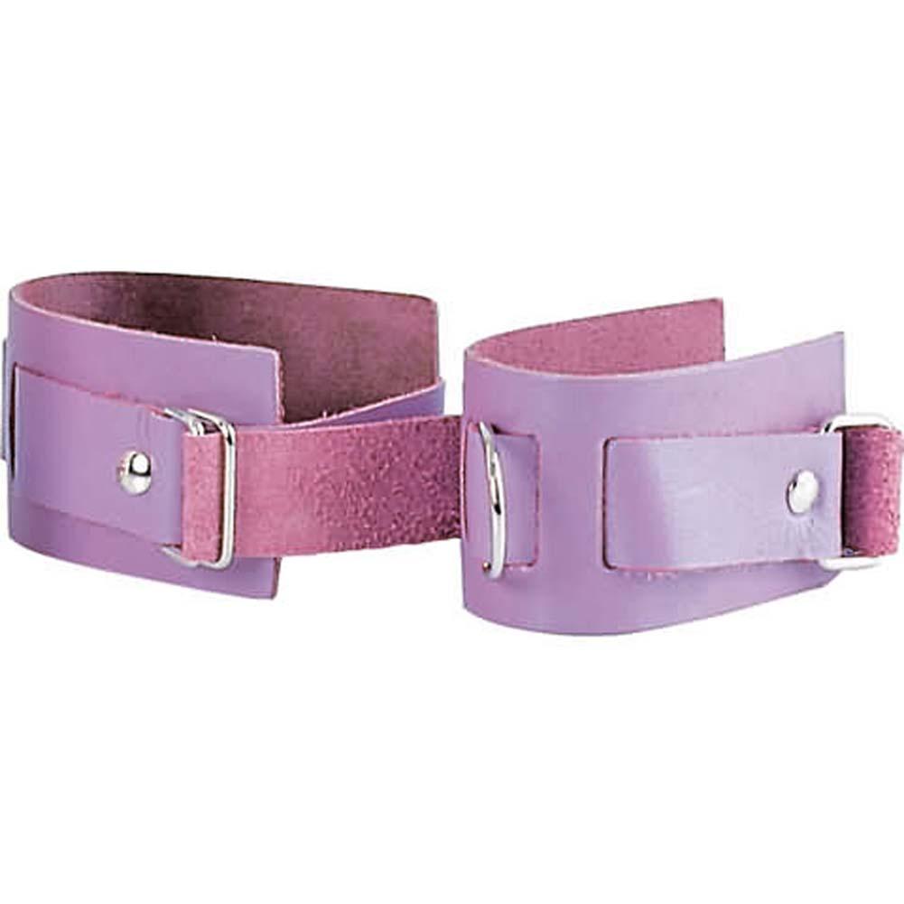 Lavender Leather Ankle Cuffs - View #2