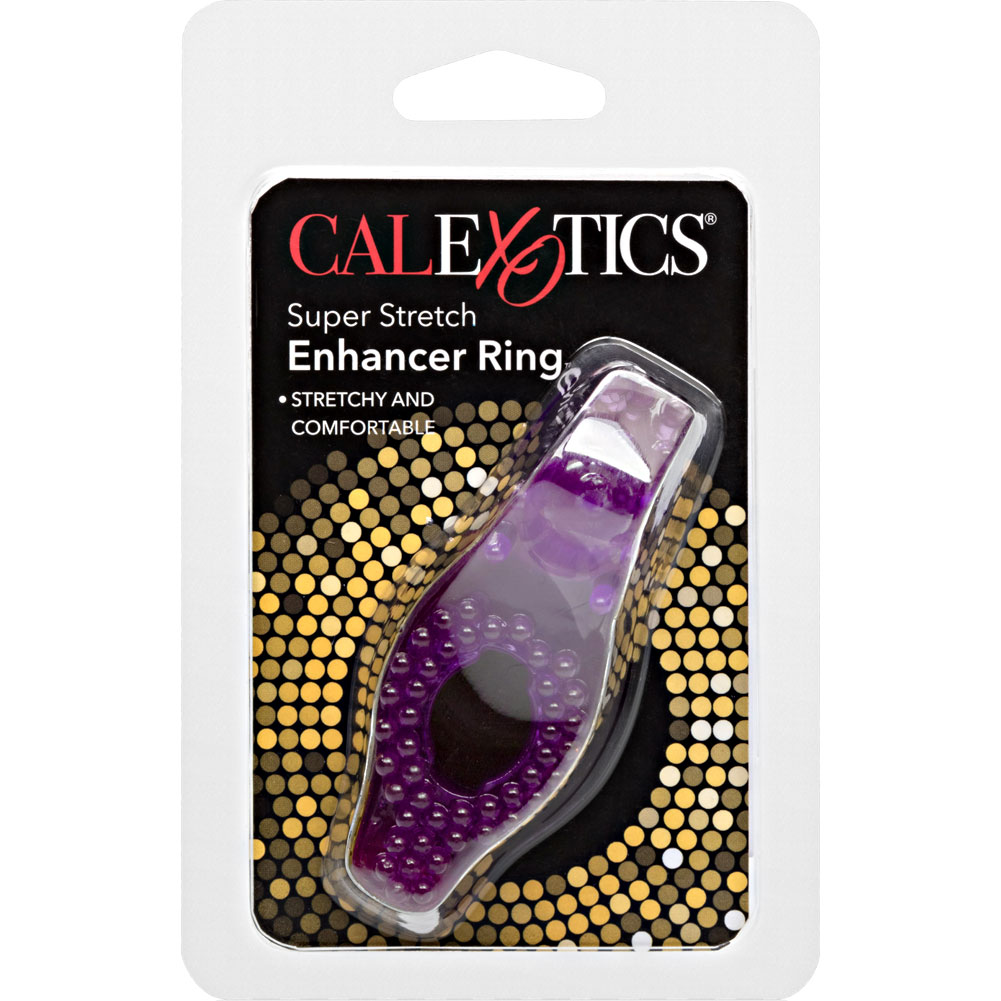 Super Stretch Stimulator Jeely Cockring Dual Noduled Purple - View #1