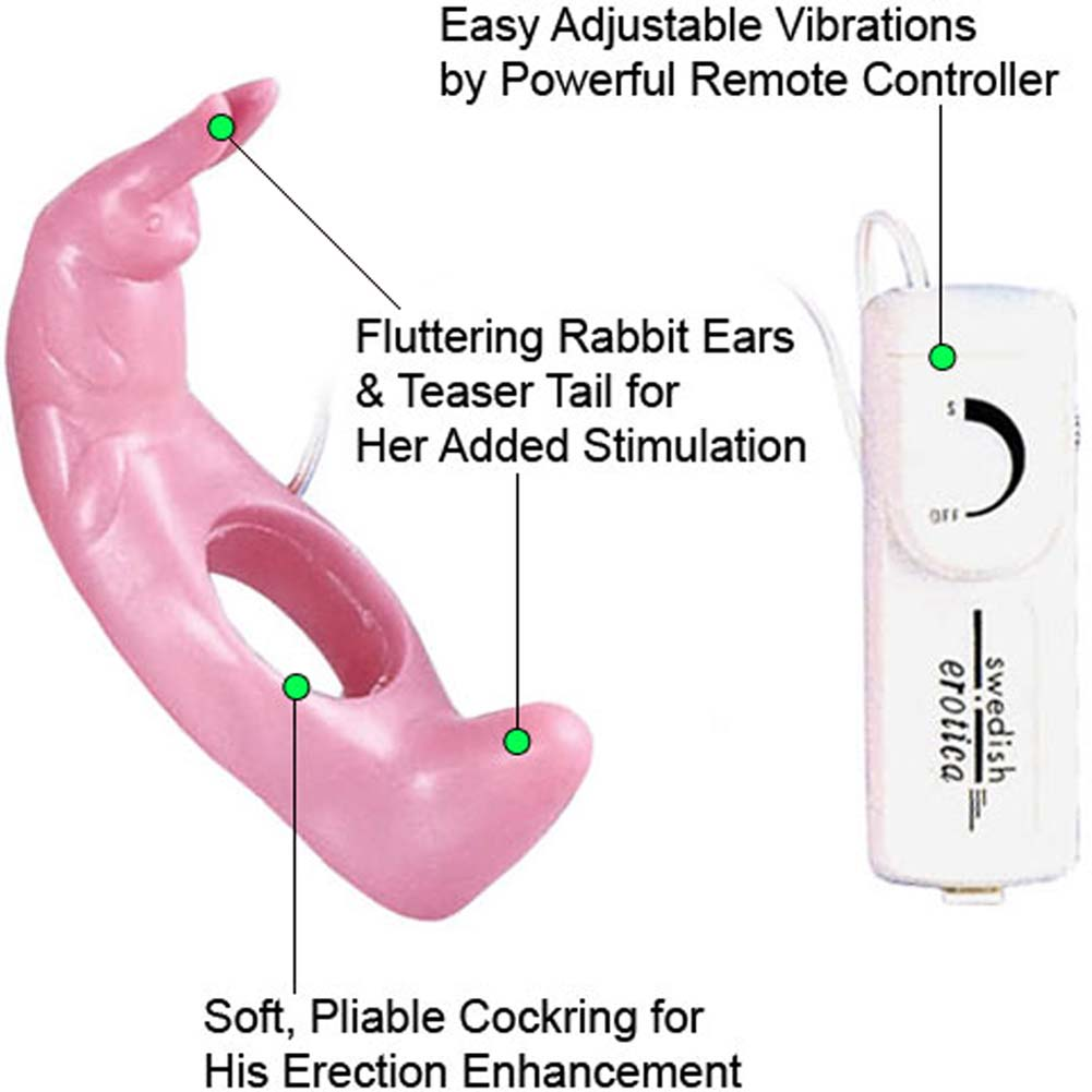 Reckless Rabbit Dual Action Vibrating Ring Pink - View #1