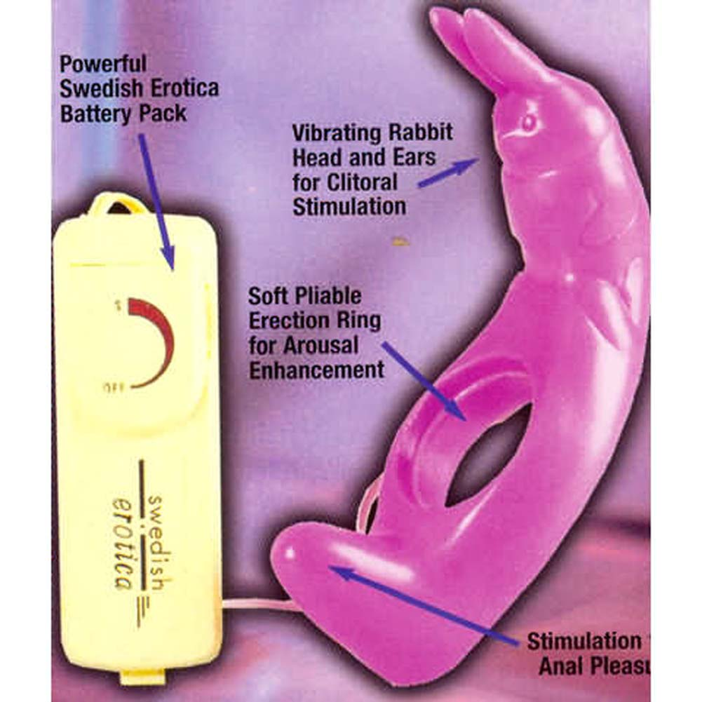 Reckless Rabbit Dual Action Vibrating Ring Pink - View #3