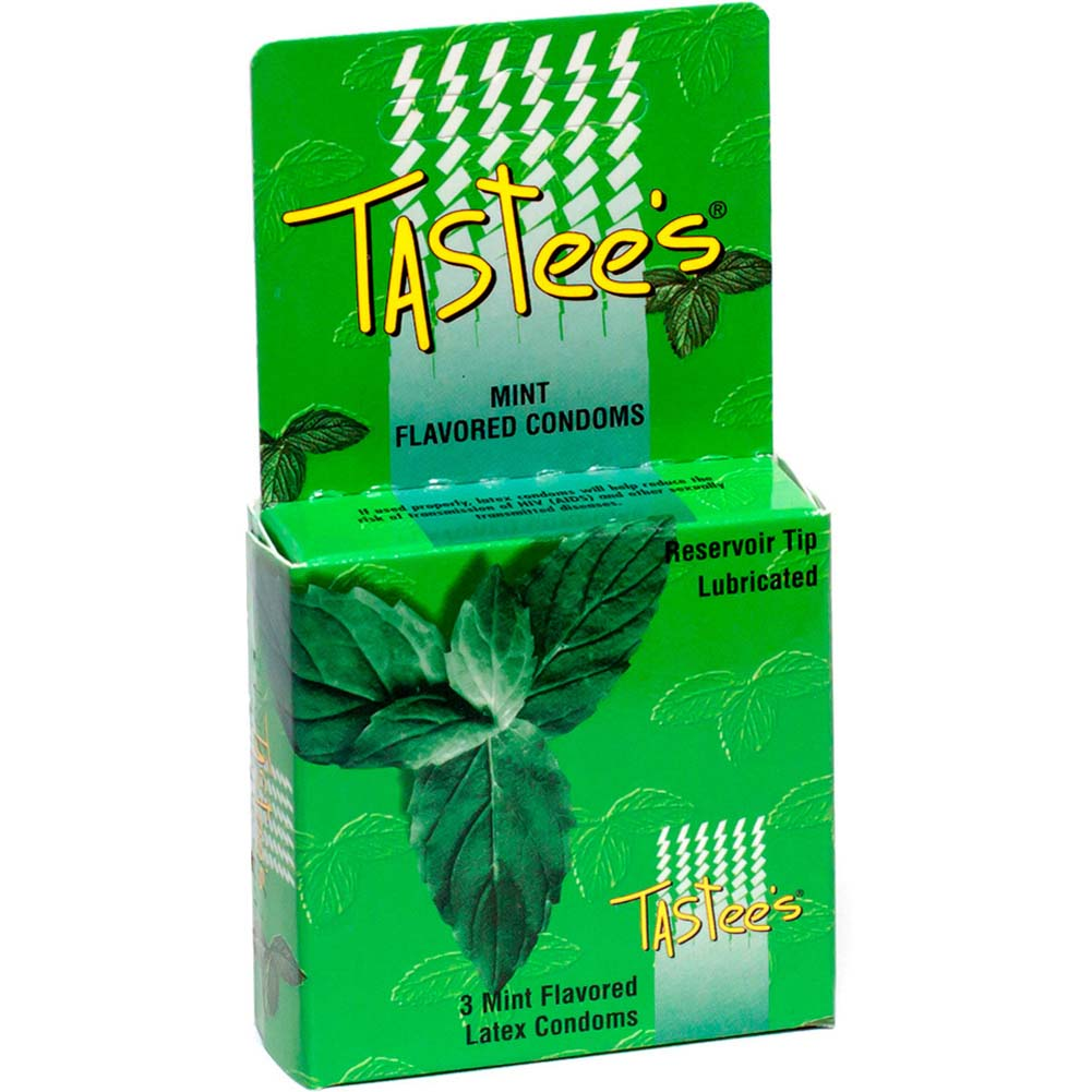 Tastee Flavored Condoms 3pk Mint - View #1