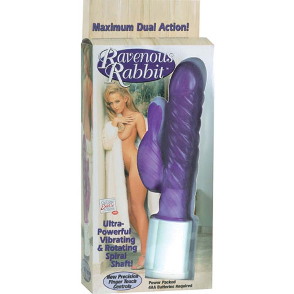 "Ravenous Rabbit Jelly Vibrator 9.5"" Purple - View #4"