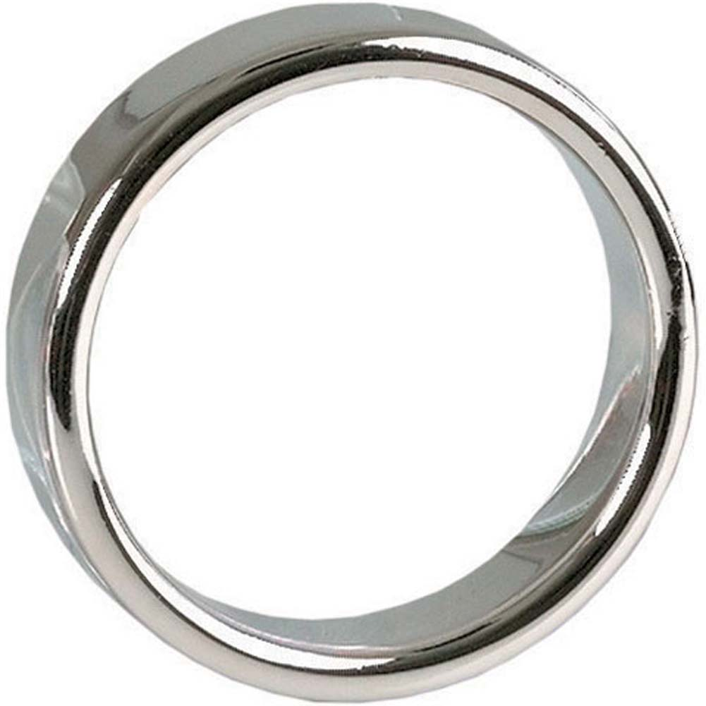 "Alchemy Metallics Seamless Medium Metal Band Cock Ring 1.75"" Silver - View #2"