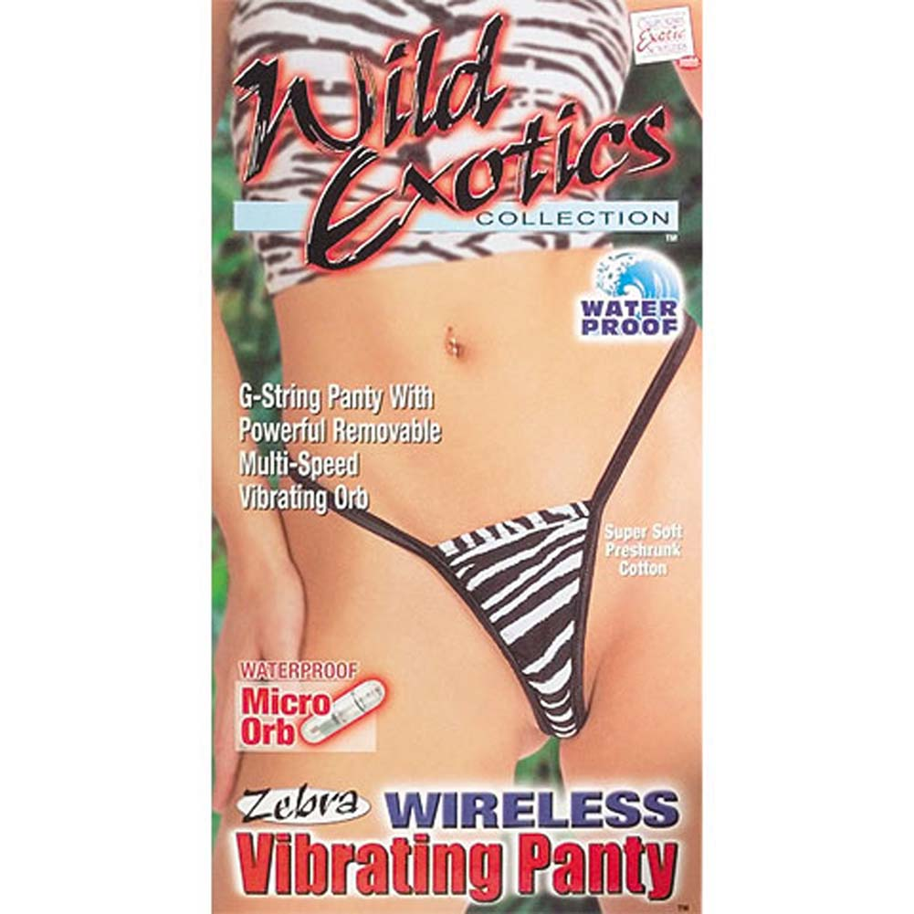 Wild Exotics Waterproof Wireless Vibrating Zebra Panties - View #3