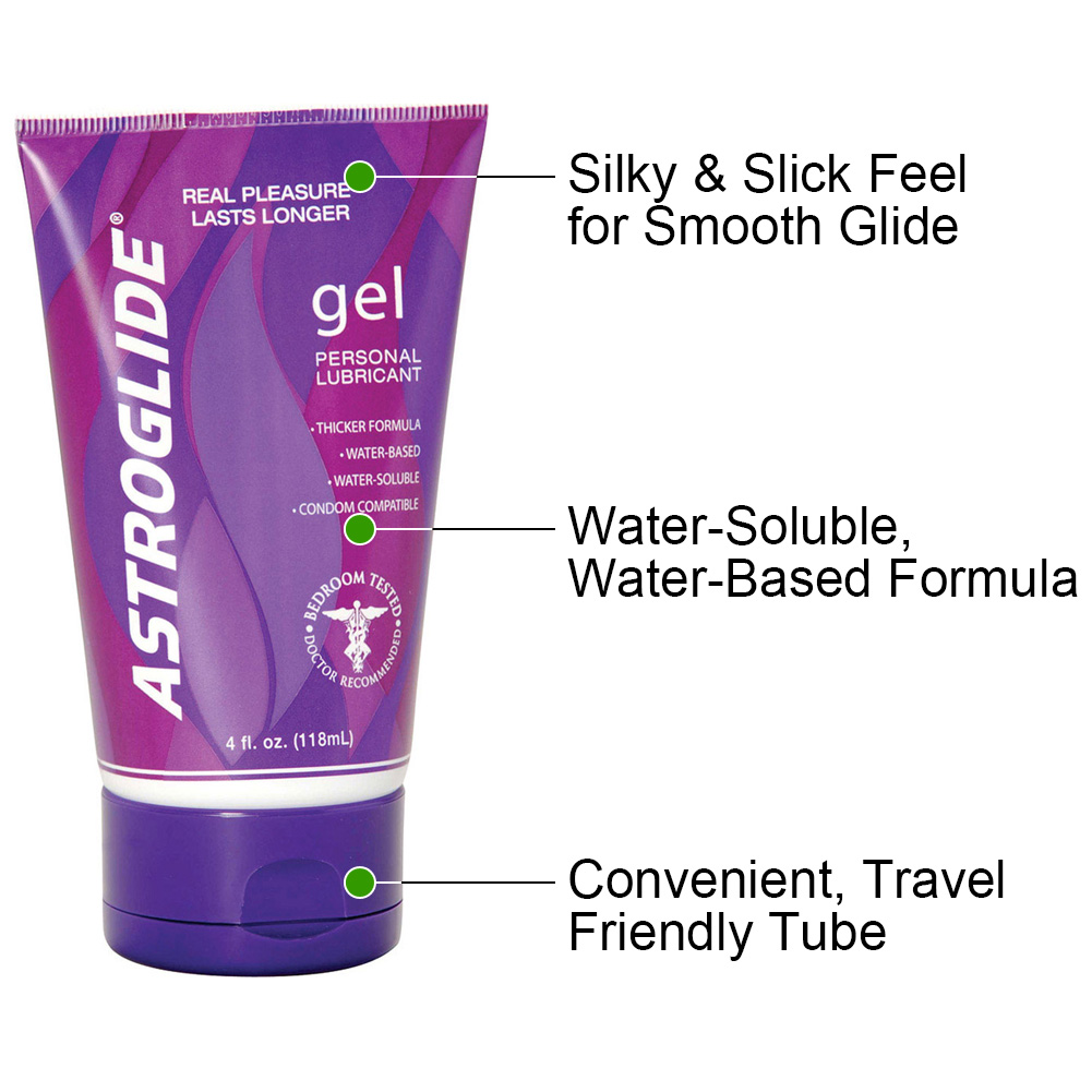 Astroglide Gel Water-Based Personal Lubricant 4 Fl.Oz 118 mL - View #1