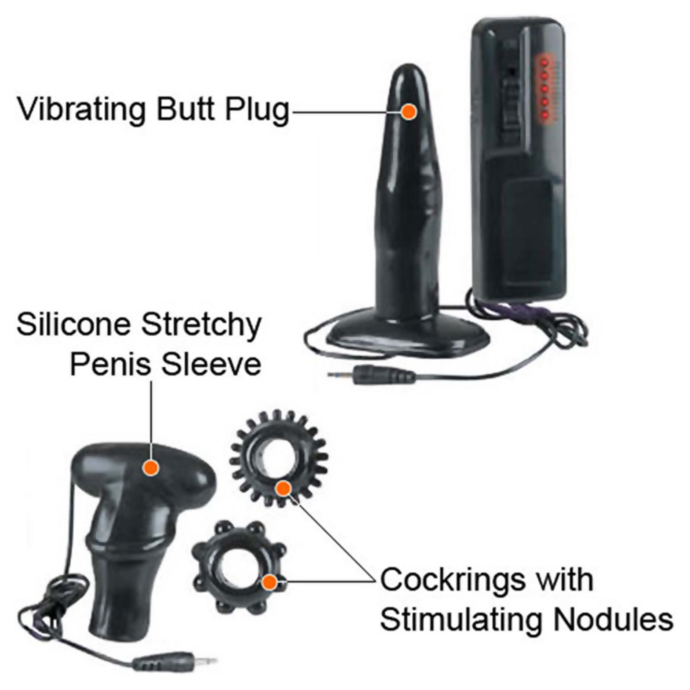 Hard Mans Vibrating Tool Kit with 6 Interchangeable Tools - View #3