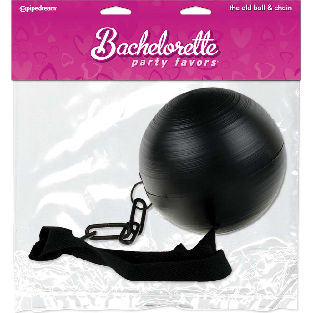 Bachelorette Party Favors Party Ball and Chain Black - View #2