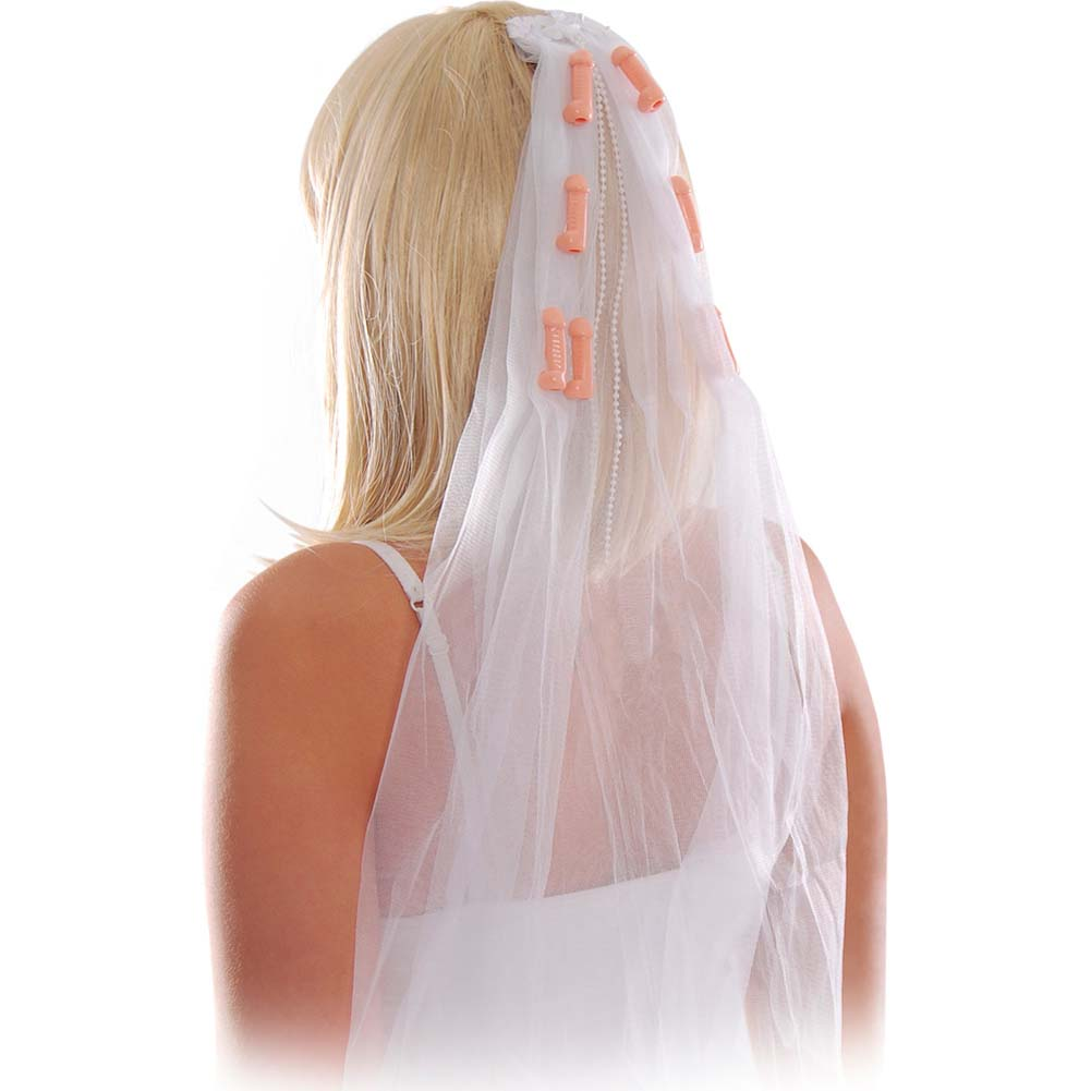 Bachelorette Party Favors Pecker Veil - View #2