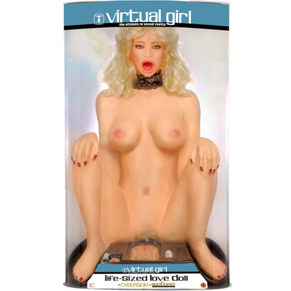 Virtual Girl Living Foam Doll with CyberSkin Parts - View #1