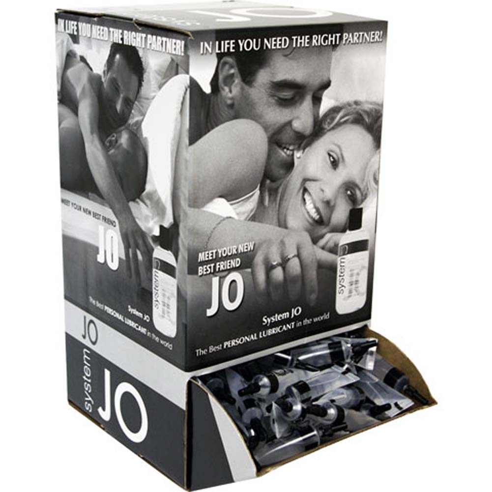 System JO Silicone Personal Lube Counter Display of 200 Tube - View #1