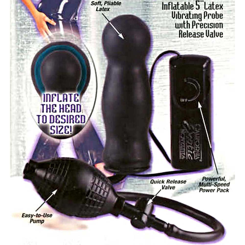 "California Exotics Inflatable Vibrating Latex Anal Probe 5"" Black - View #1"