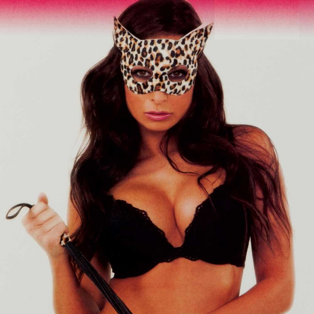 CalExotics Tera Patrick Passion Play Kitty Kat Mask and Whip Set Leopard Print - View #3