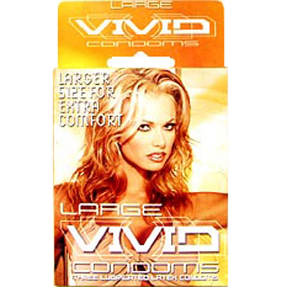 Vivid Large Condoms 3 Pack - View #1