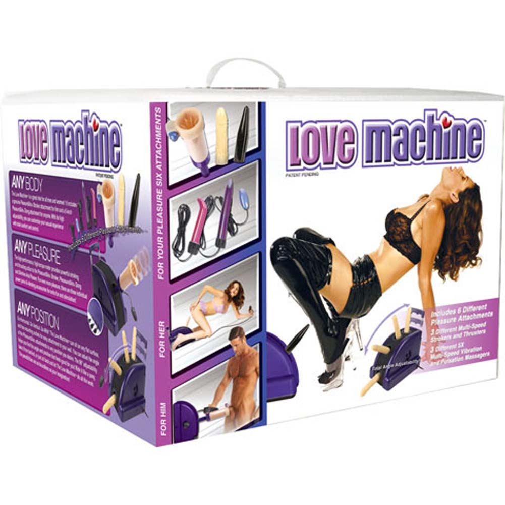 Love Machine with 6 Pleasure Attachments - View #4