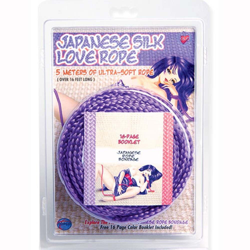 Japanese Silk Love Rope 16 Ft Purple - View #3