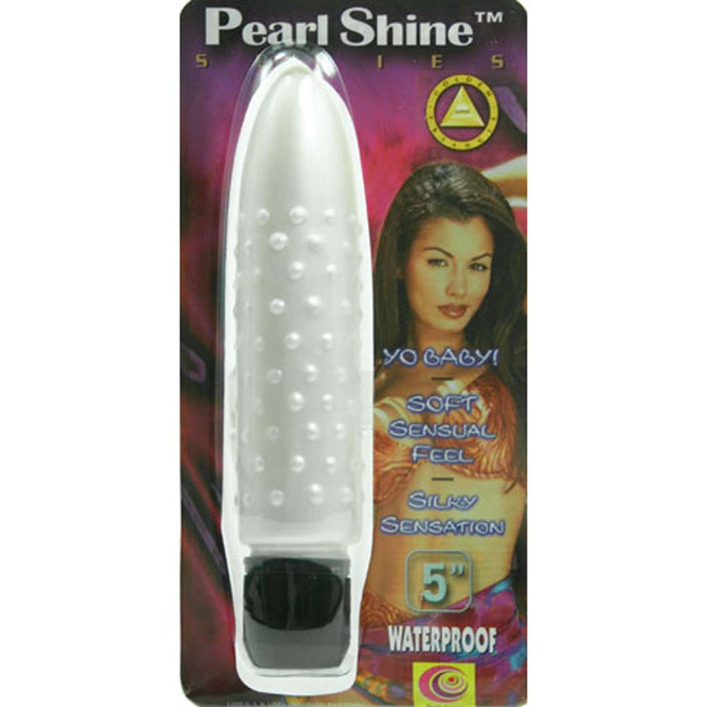 "Pearl Shine Bumpy Waterproof Vibe 5"" White - View #1"