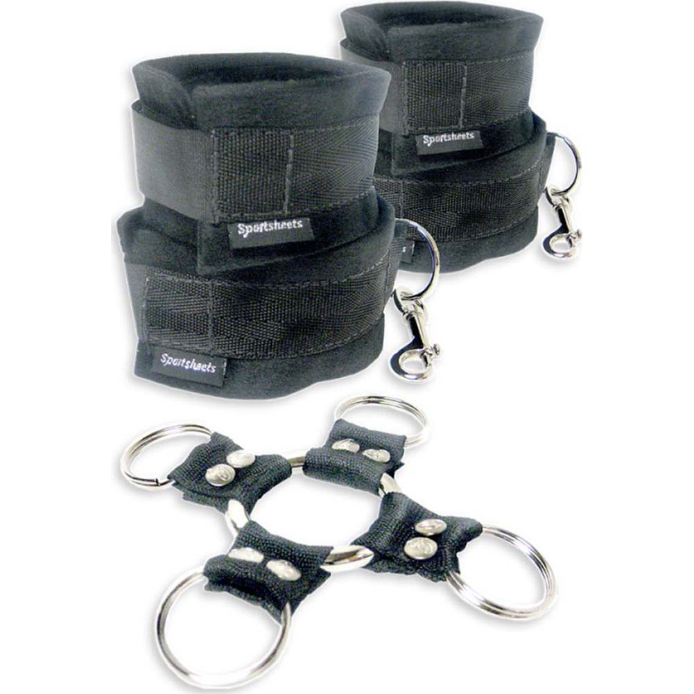 Sportsheets 5 Piece Hog Tie and Cuff Set Black - View #2