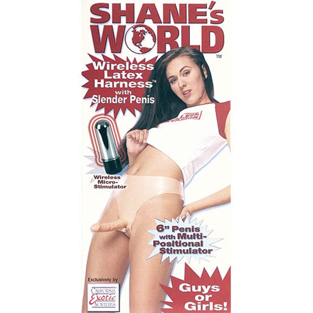 "Shanes World Latex Harness with 6"" Slender Penis - View #4"